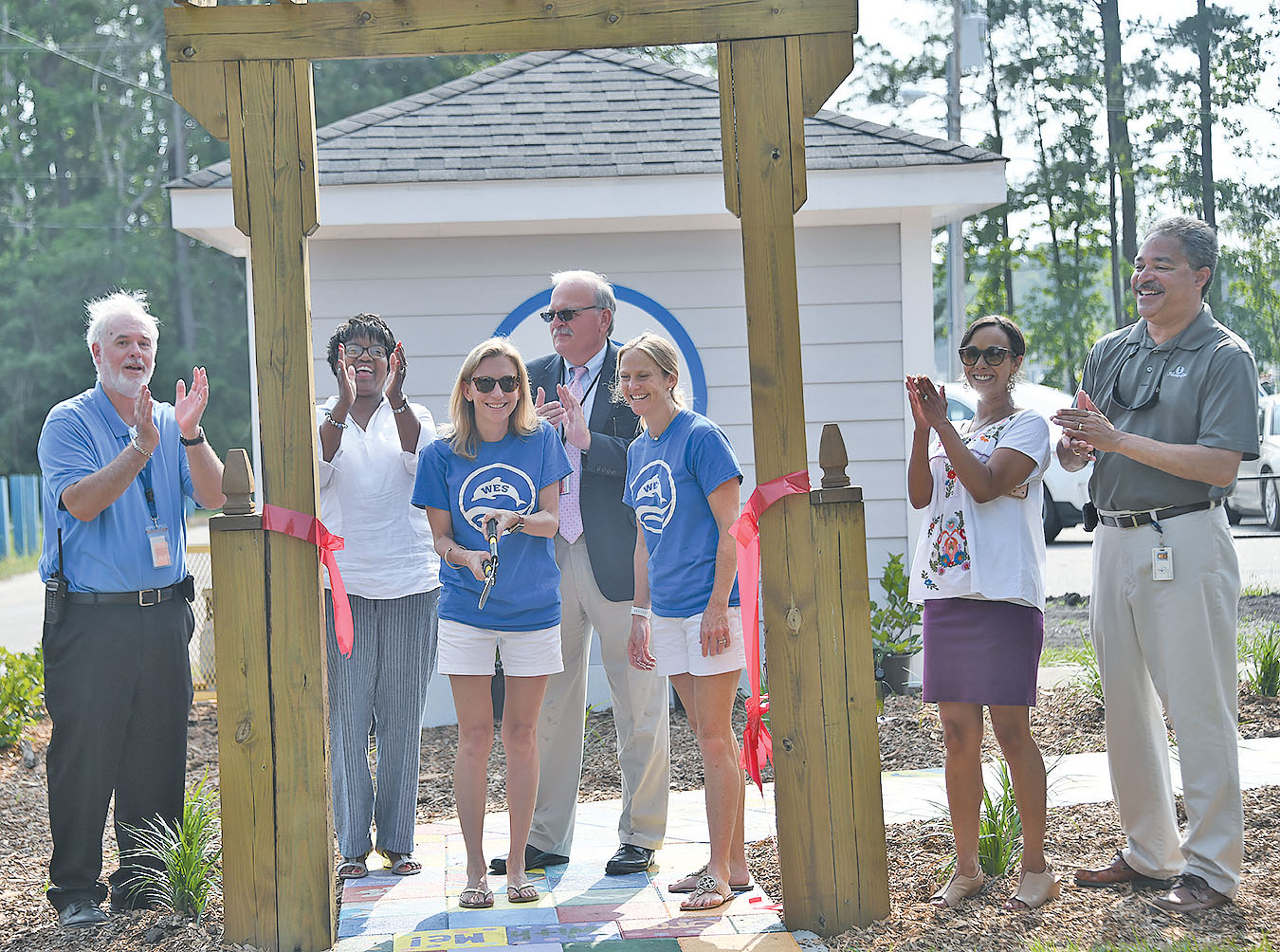 The Dolphin Garden at Waccamaw Elementary got a makeover this year in a project sponsored by the PTO.  (Photos by Tanya Ackerman/Coastal Observer)