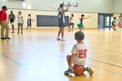Braxton Nist, 5, watches the Waccamaw Warriors practice as he waits for his game to begin.