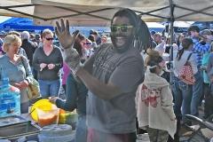 Jaesen Moore, of Murrells Inlet, loves up to serve some chicken bog.