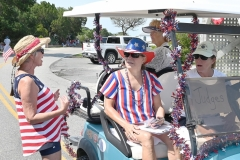 Darlene Adams, a long-time parade judge, shares some tips with three of this year's judges, Beth Ness, Rhoda Guess and Sassy Henry.