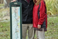 Bruce and Paula Cote hiked the Applachian Trail in 2012. Bruce will talk about his experience at The Abbey tonight during an oyster dinner. Tanya Ackerman/Coastal Observer